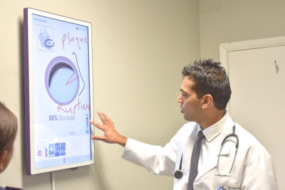 Dr. Shah discussing