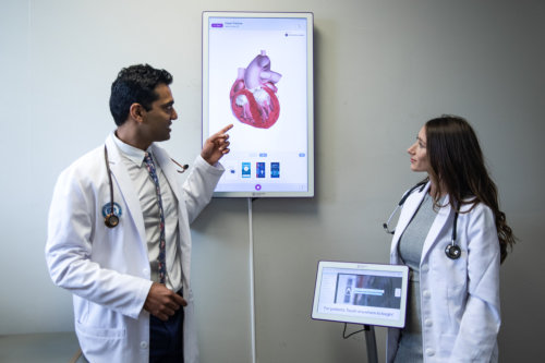Dr. Anuj R. Shah and a female doctor