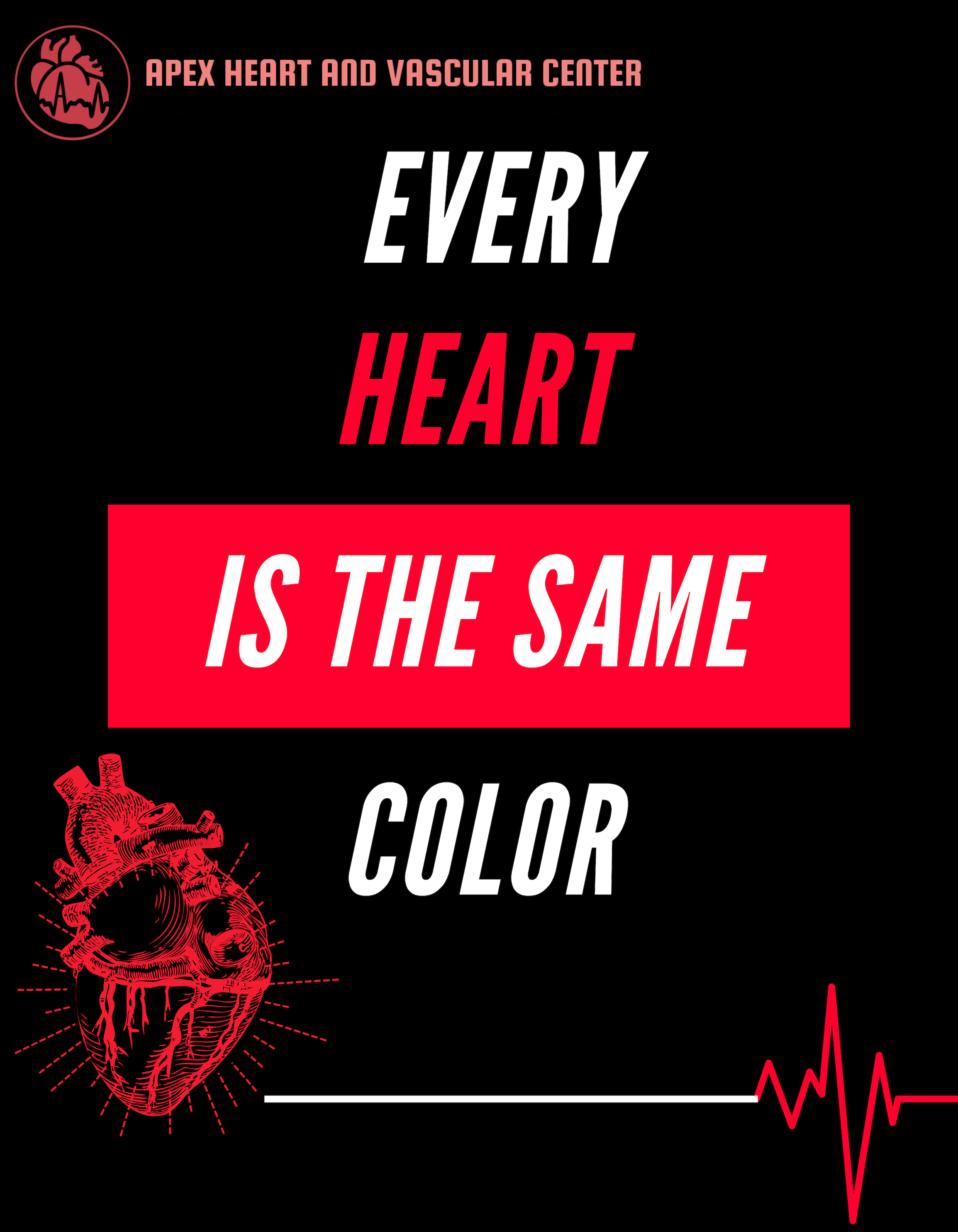 "Dr. Anuj Shah quote ""Every heart is the same color"""